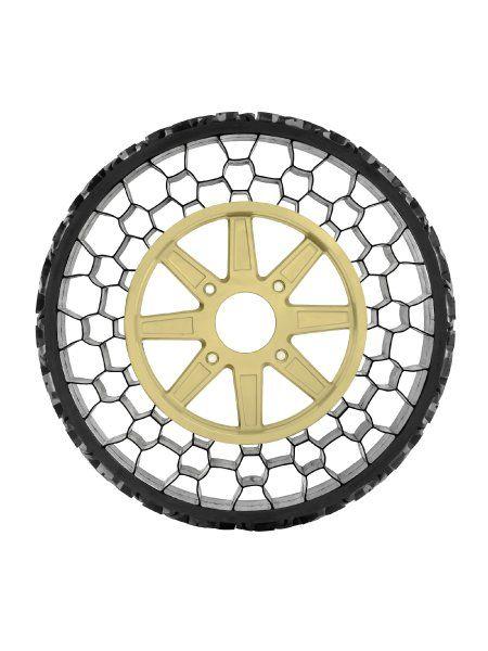 Dreilagiger Rundling: Der Non Pneumatic Tire (NPT) von Polaris besteht aus...