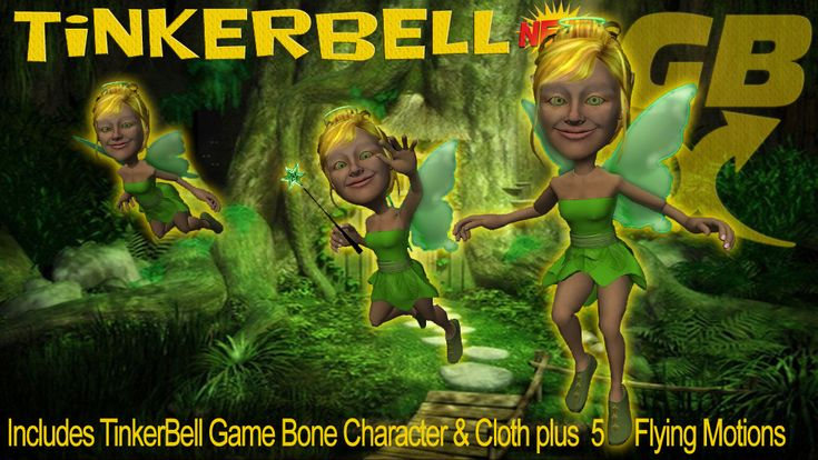 Game Bone Cloth TinkerBell Fairy in Reallusion city