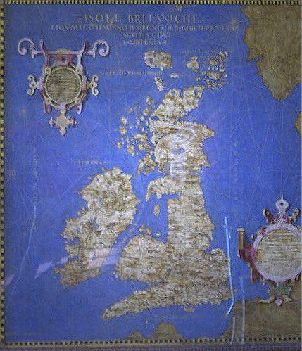 Mappa delle Isole Britanniche di Ignazio Danti - Palazzo Vecchio di Firenze