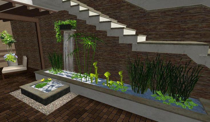 Mejores 70 im genes de fuentes minimalista en pinterest for Diseno de cascadas para jardin