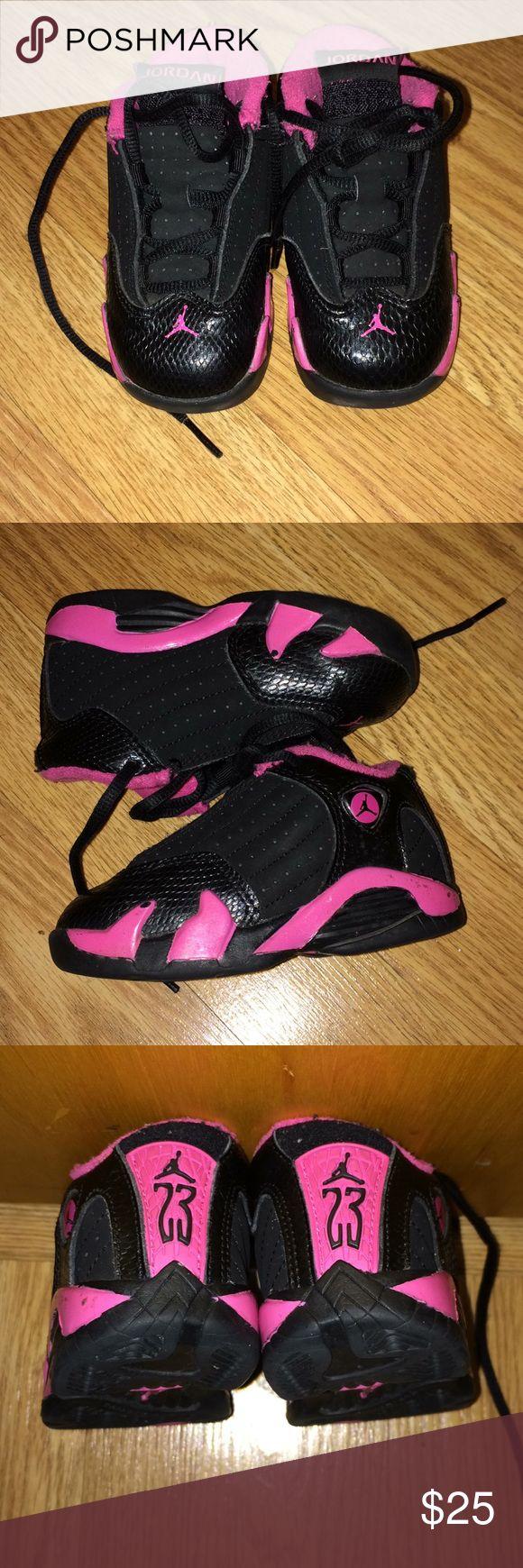 Jordan retro 14 Baby Jordan retro 14 in pink and black. Air Jordan Shoes Sneakers