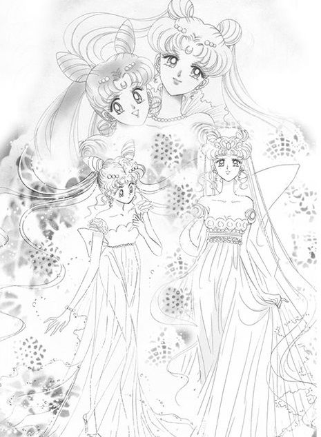 Neo Queen Serenity and Princess Small Lady . love it!!!!!!