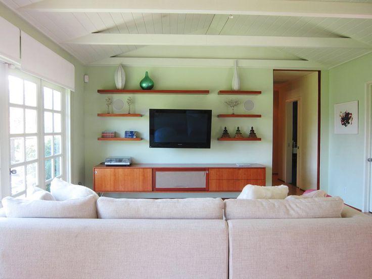 best 25 shelves around tv ideas on pinterest
