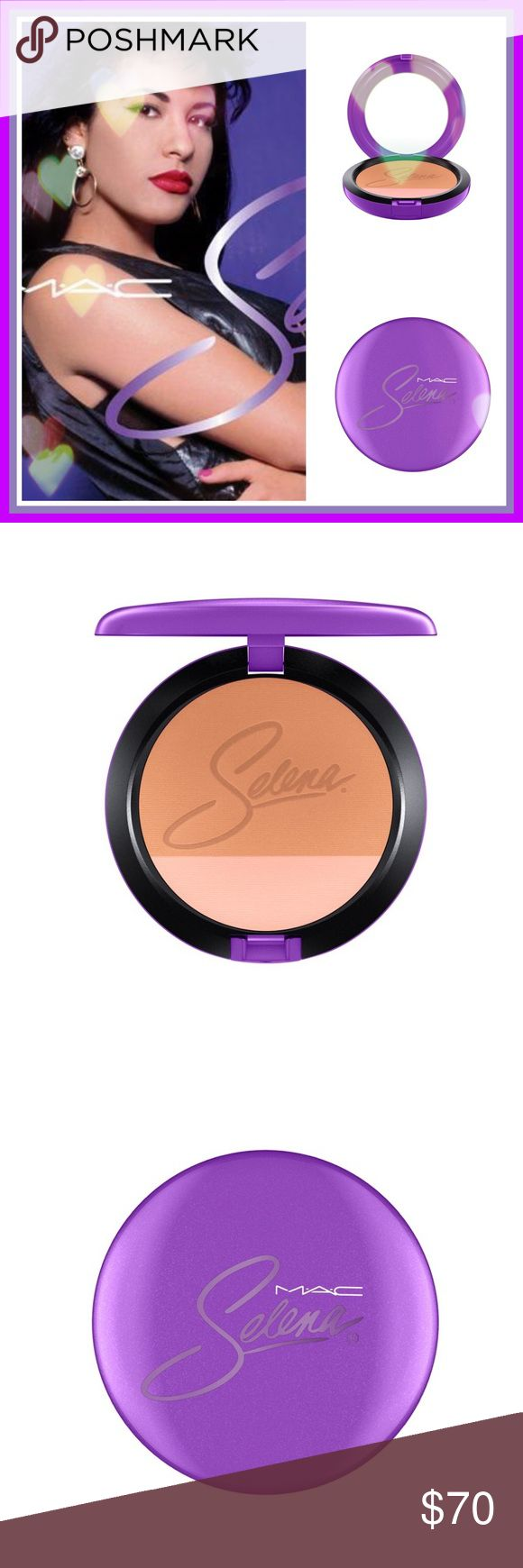 🌹MAC Selena Collection Techno Cumbia Bronzer BRAND NEW IN BOX. PURCHASED TWO FROM EBAY FOR $75. SO WORTH IT!!  THIS COLLECTION IS EVERYTHING AND SOLD OUT EVERYWHERE. 💜A VERY SPECIAL ITEM TO OWN💜🌹  Two shades in one compact. Designed by and for professionals to provide fantastic colour with ease and consistency. Applies evenly, adheres lightly to skin for a natural-looking application of colour that stays put all day. Specially packaged in purple featuring Selena's signature in lavender…