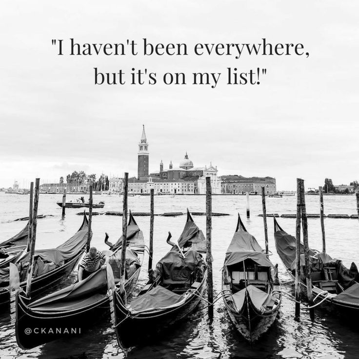 """I haven't been everywhere, but it's on my list"""