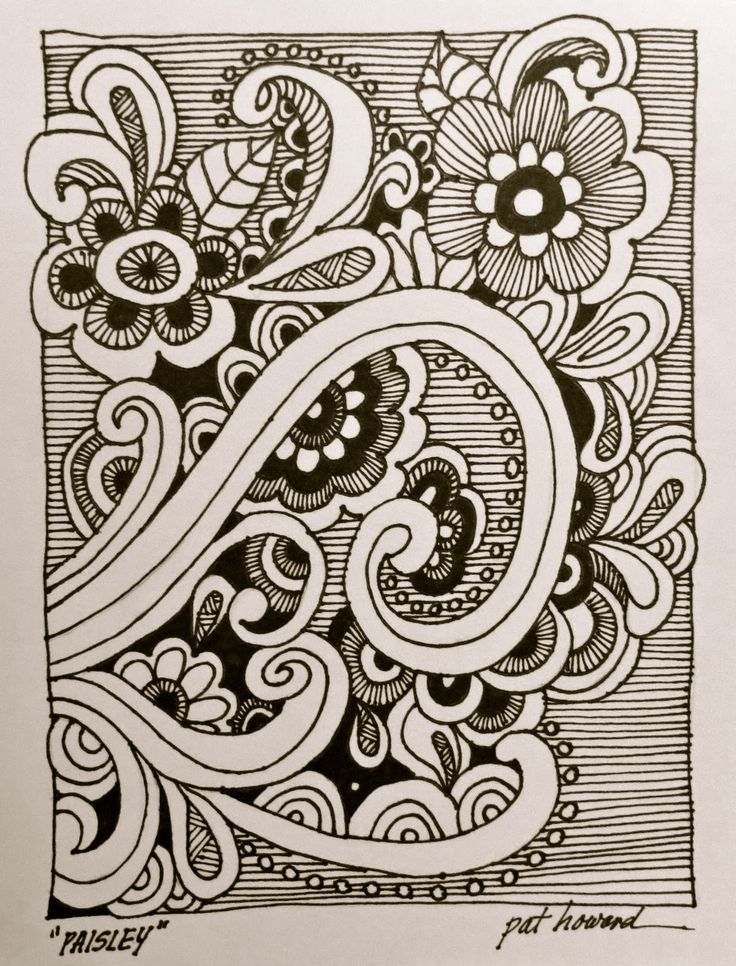 doodling doodle doodles easy drawing fun paisley patterns zentangle drawings designs cool prism painted importantly thepaintedprism mistake flowers its zen