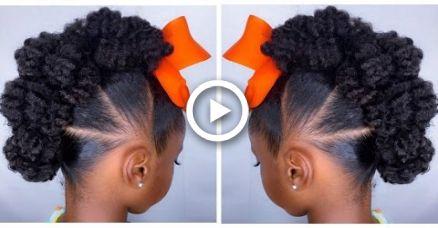 Textured Bun-Hawk Tutorial   Kids Natural Hairstyle   IAMAWOG