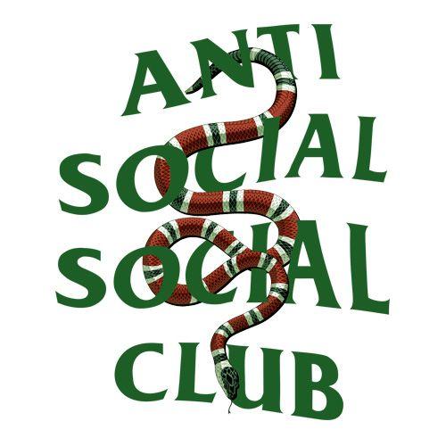 ASSC white Anti Social Social Club x GC Snake Hoodie