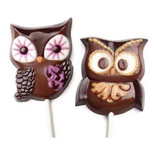 Chocolate Lollipop Molds: Owl Candy Mold Set