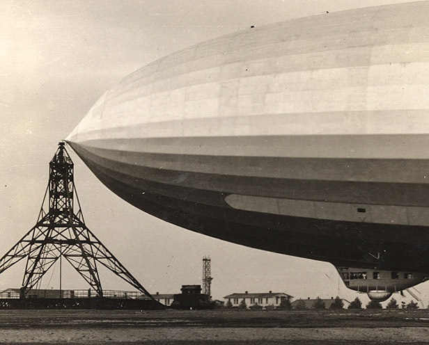 US Navy zeppelin aircraft carrier; shown is USS Akron