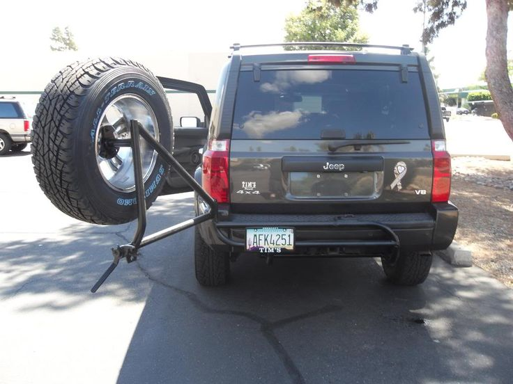 jeep commander spare tire carrier - Google Search