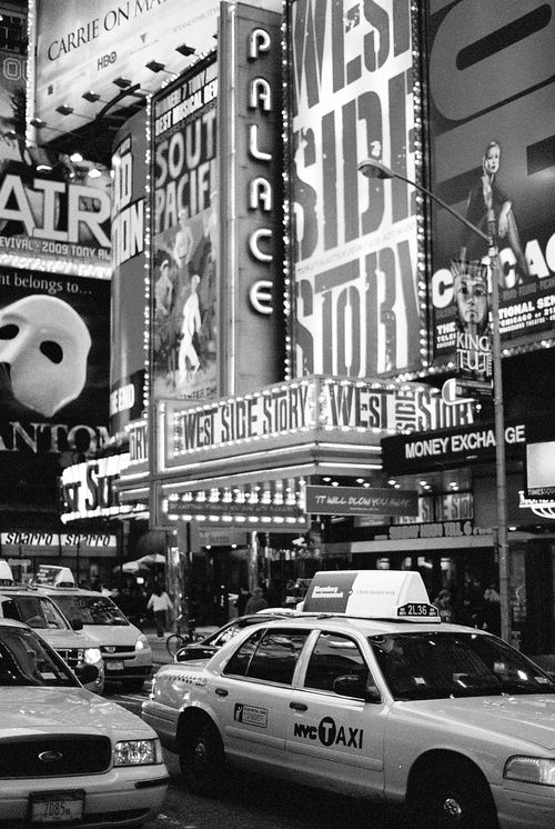 Even in black and white Broadway is beautiful. I hope to sing and dance on the stage one day! <3