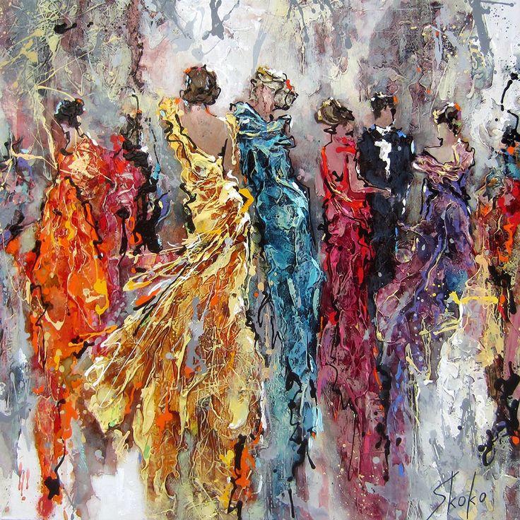 Dresses par Skoko, artiste présentement exposée aux Galeries Beauchamp. www.galeriebeauchamp.com