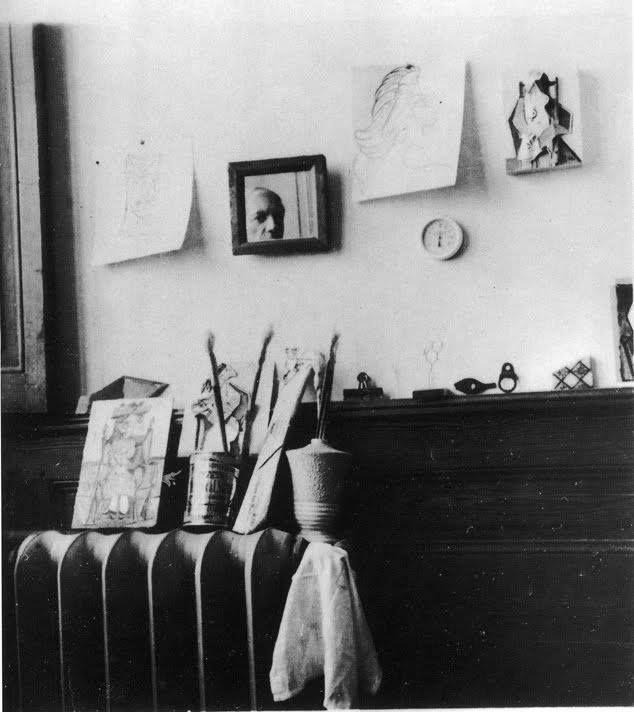 """Pablo Picasso, """"Self portrait in the studio Royan"""" (1940)."""