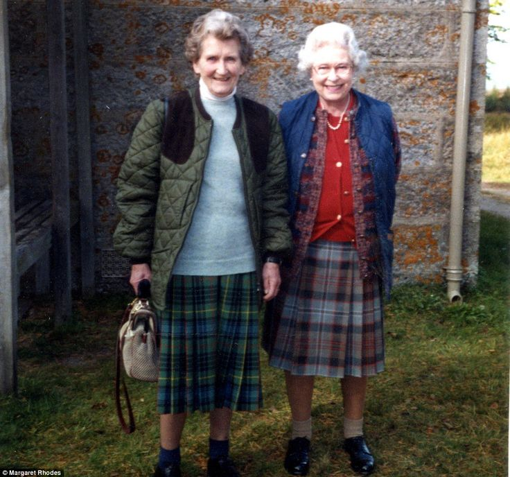 Duchess Kate Blog (@HRHDuchesskate) on Twitter:  Margaret Rhodes neé Elphinstone, shown here with her first cousin Queen Elizabeth II, has died at the age of 91, November 25, 2016 (b. June 9, 1925); Margaret, 10 months older than her cousin, was a close friend, confidant, and bridesmaid of then Princess and later Queen Elizabeth; the cousins would often have tea on Sunday afternoons at Windsor.