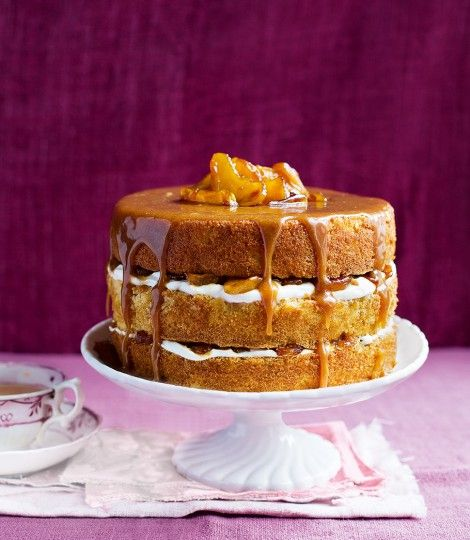This caramel apple layer cake is pure bliss and a real treat but can be done from start to finish in 2 hours!