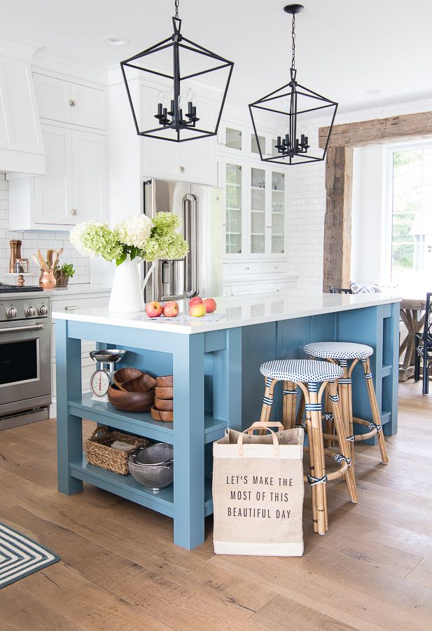 Fall Home Decor Tour Navy And Rust Lake House Kitchen Home