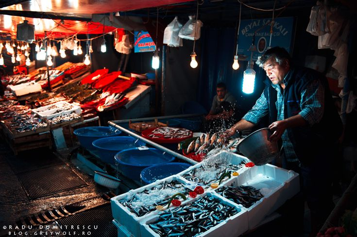 Fish seller in the Karakoy Fish Market - Istanbul, 2010.