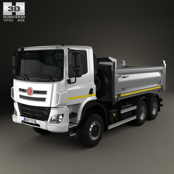 Tatra Phoenix T158 Tipper Truck 3-axle 2014 3d model from Hum3d.com.
