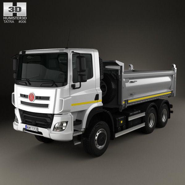 Tatra Phoenix T158 Tipper Truck 3-axle 2014 3d model from Hum3d.com.