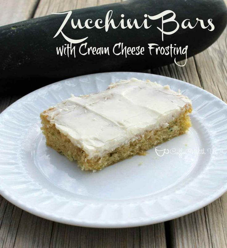 Zucchini Bars with Cream Cheese Frosting.  Even those who don't like zucchini are going to love this recipe! Seriously!