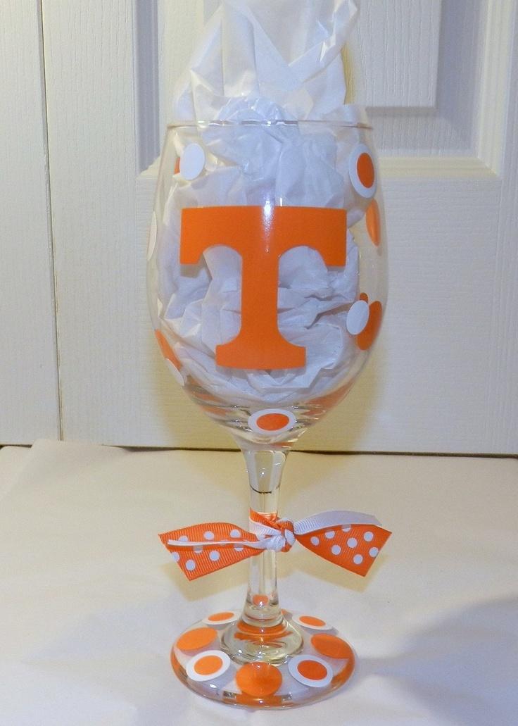 University of Tennessee Wine / Pilsner Glass. $13.00, via Etsy.