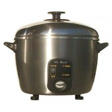 Cookware: 3-cups Stainless Steel Rice Cooker / Steamer