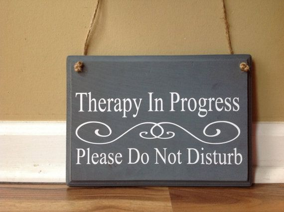 Therapy In Progress/Please do not Disturb/In session/Do Not Knock/ Please Have a Seat Waiting Room Therapist Office two sided sign wood