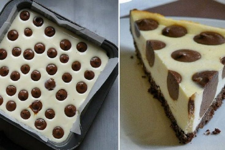 Roztomilý tečkovaný cheesecake s čokoládou – Napadov.cz