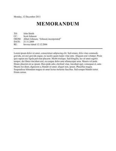 Image result for memorandum format