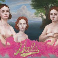 By Dorielle Caimi - title:Gals  48 x 36 in, 122 x 91 cm, Oil & Goldleaf on Canvas, 2015 http://www.dorielle.com