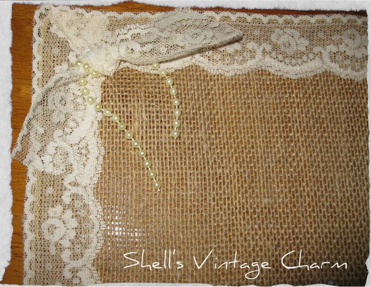 Shabby Chic Lace And Burlap Placemats Lace Nice And Shabby