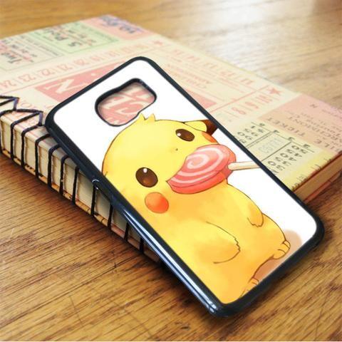 Cute Pikachu Lollipop Samsung Galaxy S7 Edge Case