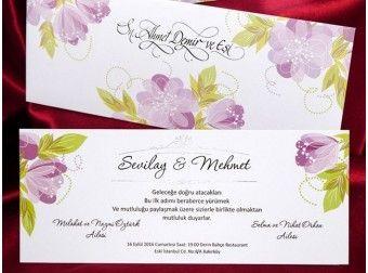 Invitatie de nunta cu flori - cod IC473