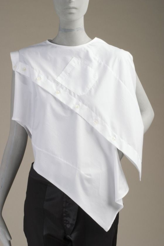 Blouse | Maison Martin Margiela | Belgium, Spring/Summer 2005 | Cotton plain weave | Los Angeles County Museum of Art, LACMA