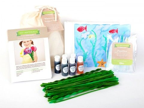 Watercolor Pack - Project Packs - DIY Materials | Kids Crafts & Activities for Children | Kiwi Crate $24.95