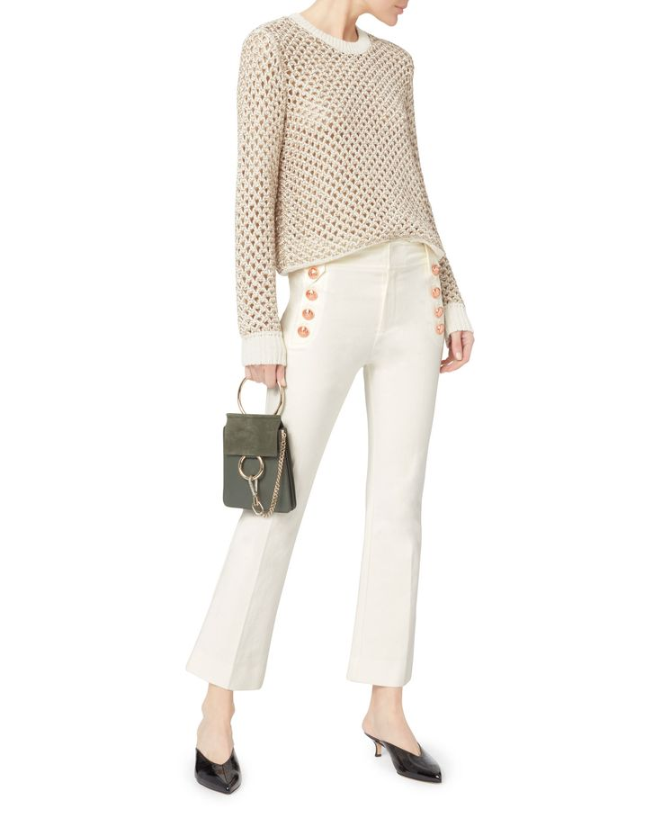 Honeycomb Open Weave Sweater, MULTI, Metallic threading adds a playful, glamourous finish to this open weave sweater. Ribbed crew neck. Long sleeves with ribbed cuffs. Ribbed hem. Pullover style. Unlined. In multi.