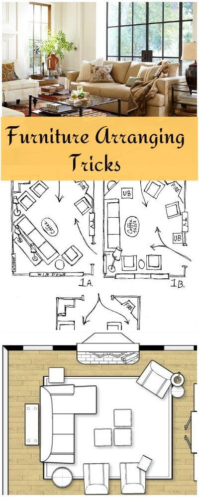Furniture Arranging Tricks  Great tips and ideas on how to arrange furniture Best 25 Small living room layout Pinterest
