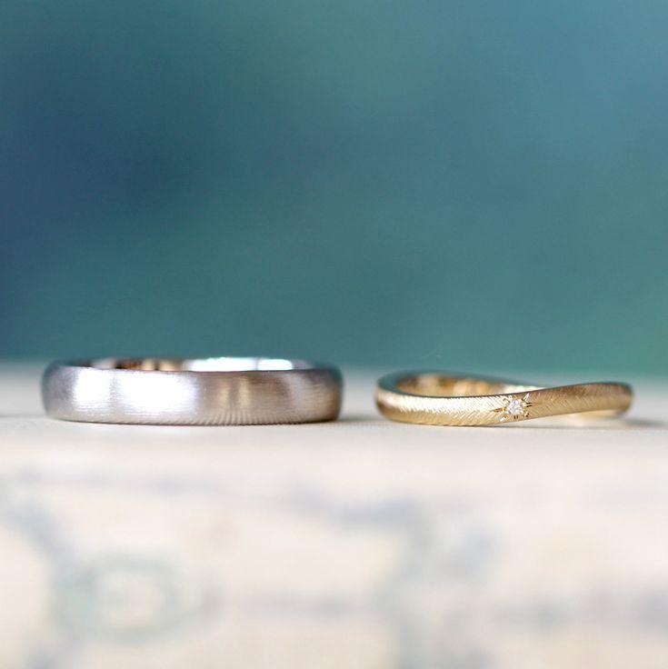 ith:フォルムこだわったマリッジリング [Pt900,K18,diamond,marriage,wedding,ring,ウエディング,ブライダル,bridal,ゴールド,結婚指輪]