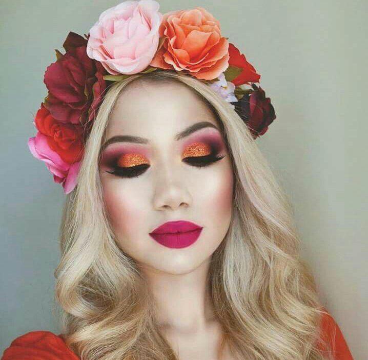 super cute look using hot toned shades.
