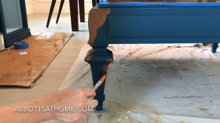 Give Your Furniture A Pretty Distressed Blue And Copper Paint Look