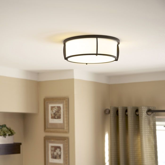 Shop allen roth w oil rubbed bronze ceiling flush mount at lowes canada find our selection of flush mount ceiling lights at the lowest price guaranteed