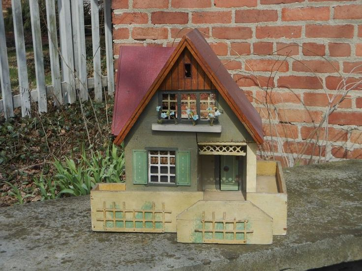 Hard To Find Antique 1912 German Gottschalk Bungalow Doll House | EBay