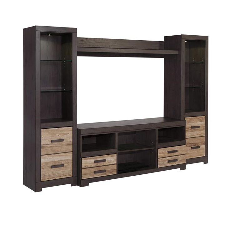 Harlington 4 Pc Wall Unit Weekends Only Furniture And Mattress Contemporary Home Style