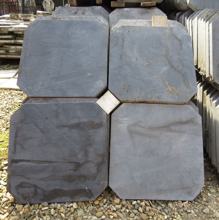 Marmer Keuken Plaat : Lot leisteen tegels met witte marmeren blokjes Lot of beautiful slate