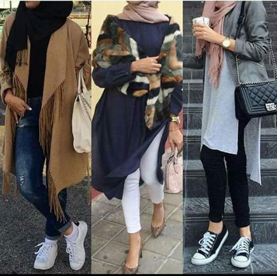 Hijab Fashion 2016/2017: Sporty hijab style  Street styles hijab looks www.justtrendygir