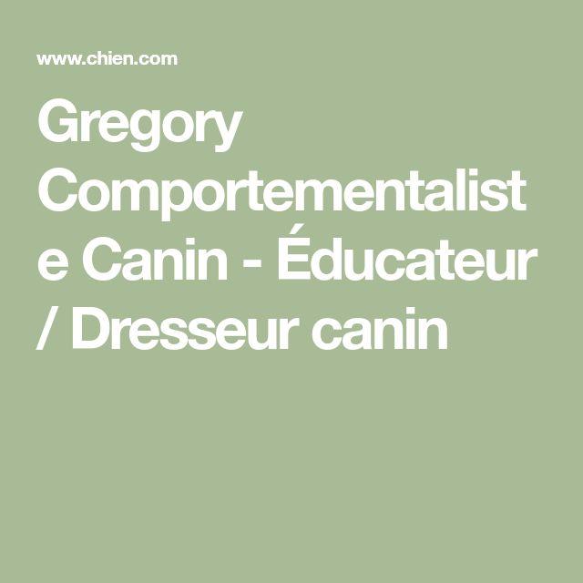 Gregory Comportementaliste Canin - Éducateur / Dresseur canin