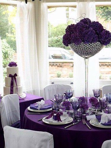 Bunches of dark purple hydrangea? Hmm..