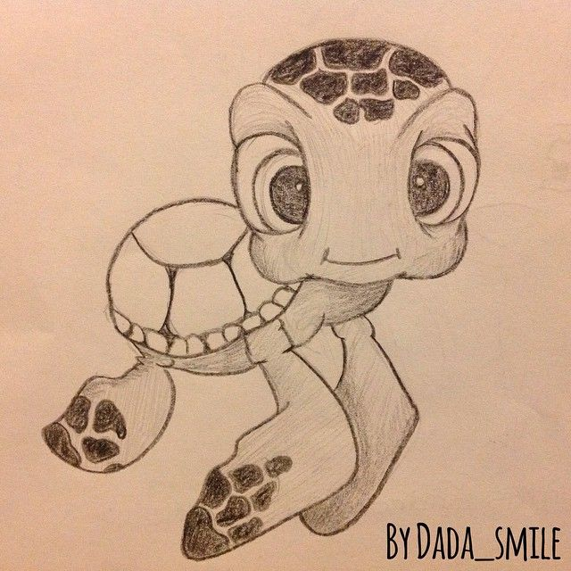 Drawibg by Dada_smile #drawing #dada_smile #turtle #finding nemo #disney