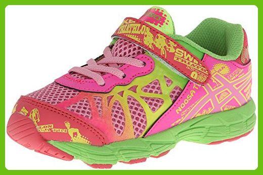Asics Noosa TRI 9 TS Running Shoe (Toddler),Petal Pink/Hot Pink/Apple Green,4 M US Toddler